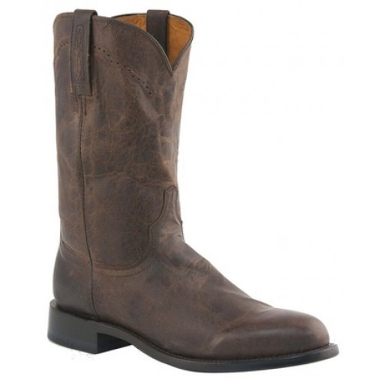 d5cd133ae0f Lucchese Men's Boots - Shane - Chocolate Madras Goat
