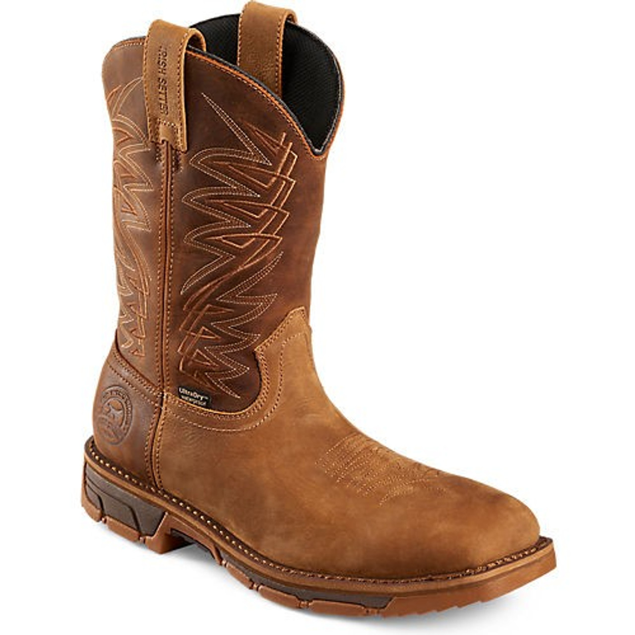 e6ee3f98e3c Irish Setter By Red Wing Boots - Marshall Waterproof Steel Toe Western Work  - Tan / Brown