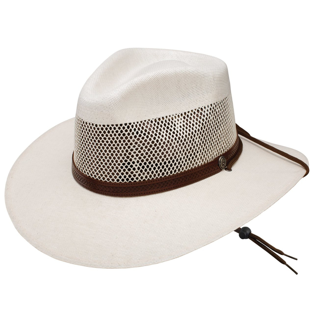 3a482a9cf56 Stetson Mens Hats - Lodge Vented Straw Hat - Natural - Billy's ...