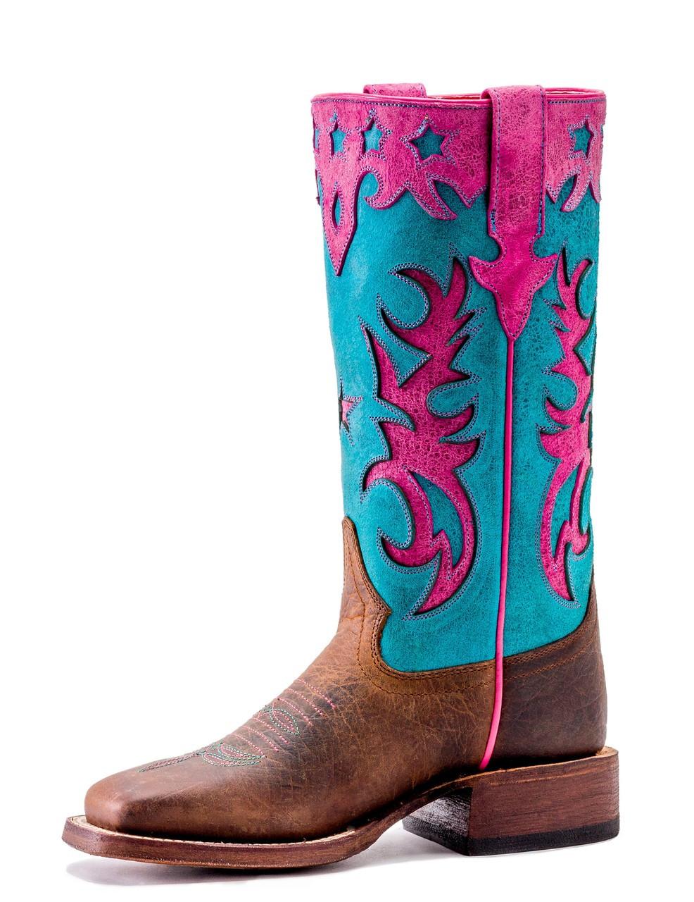 f008266a061 Macie Bean Kids Boots - Bone Mad Dog - Turquoise Sinsation