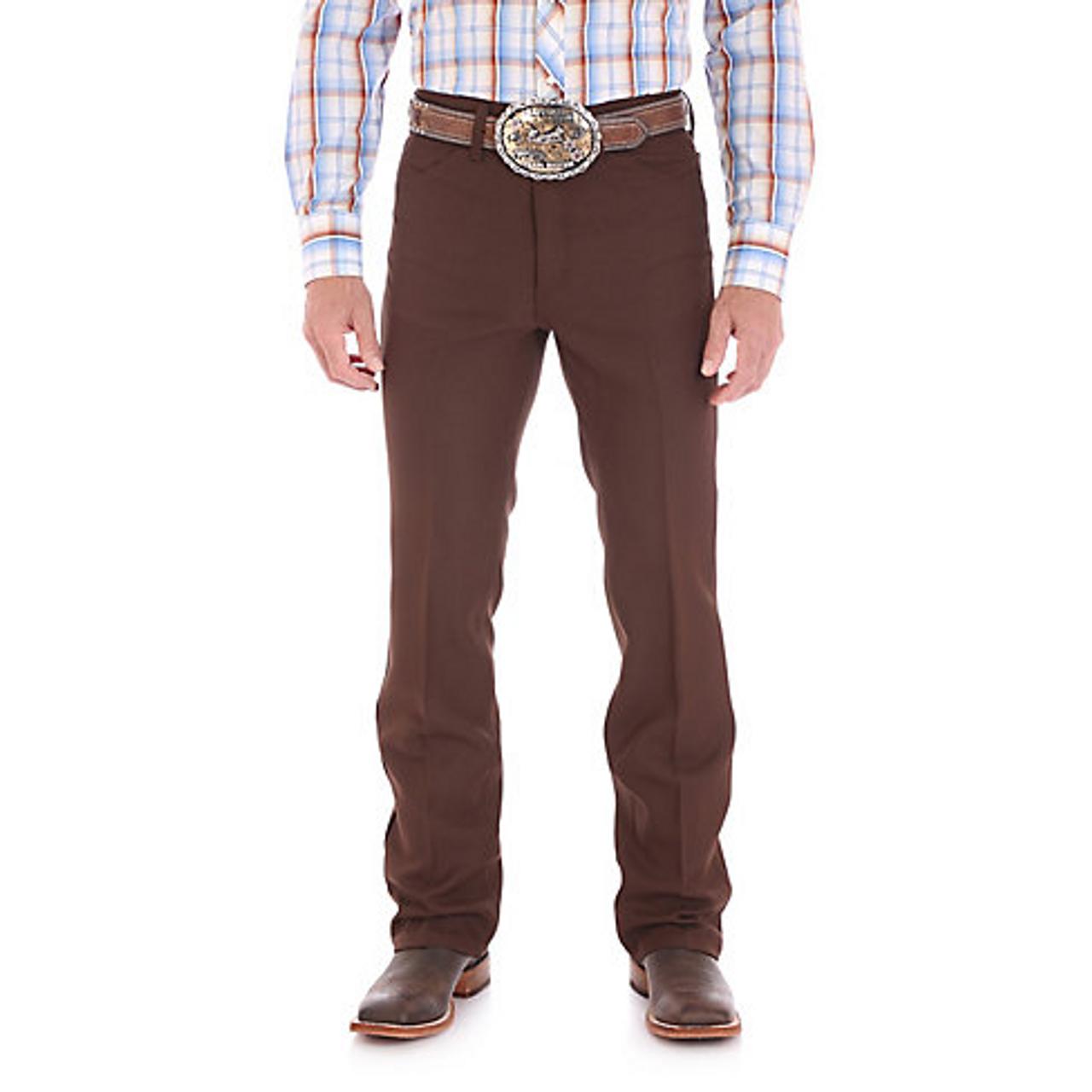 3a450203b19 Wrangler Mens Dress Jeans - Brown - Billy's Western Wear
