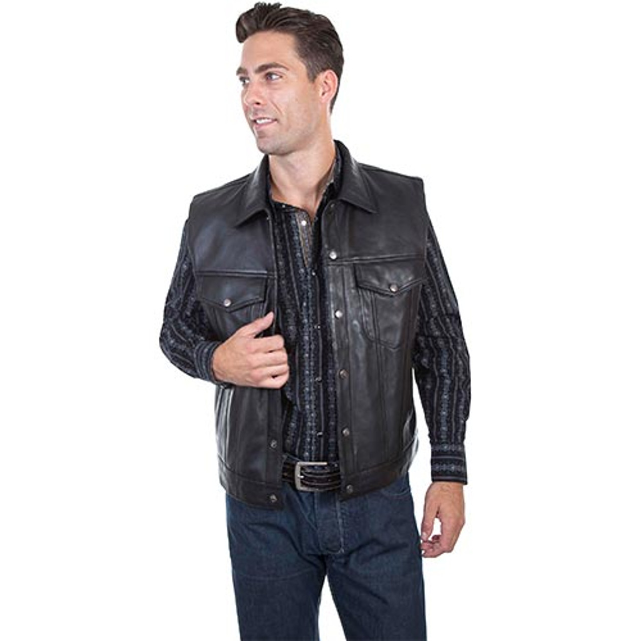 3dcd46a28 Scully Mens Jackets - Lamb Concealed Carry Vest - Black