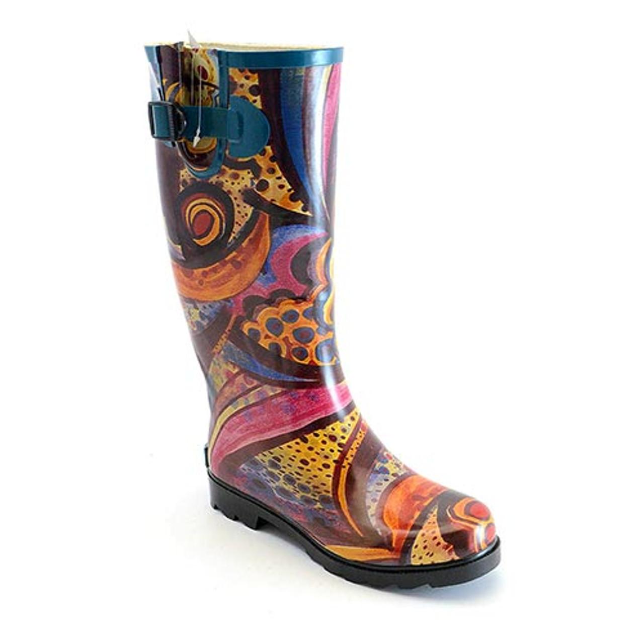 bafc26b6c23 Corky's Women's Footwear - Sunshine - Multi Swirl - Rain Boot