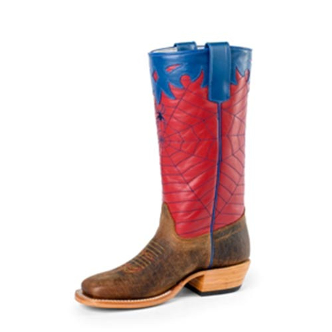 5a2b9079363 Anderson Bean - Olathe Kid's - Red & Blue Spider Web Cowboy Boots