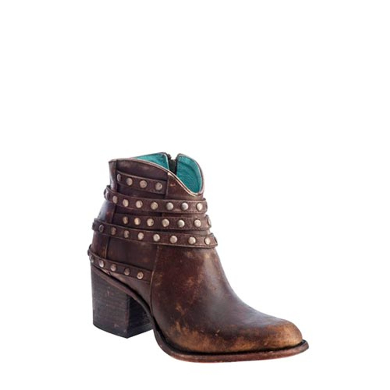 701e45f40ae Corral Women's Boots - Studded Strap Ankle Boot - Round Toe
