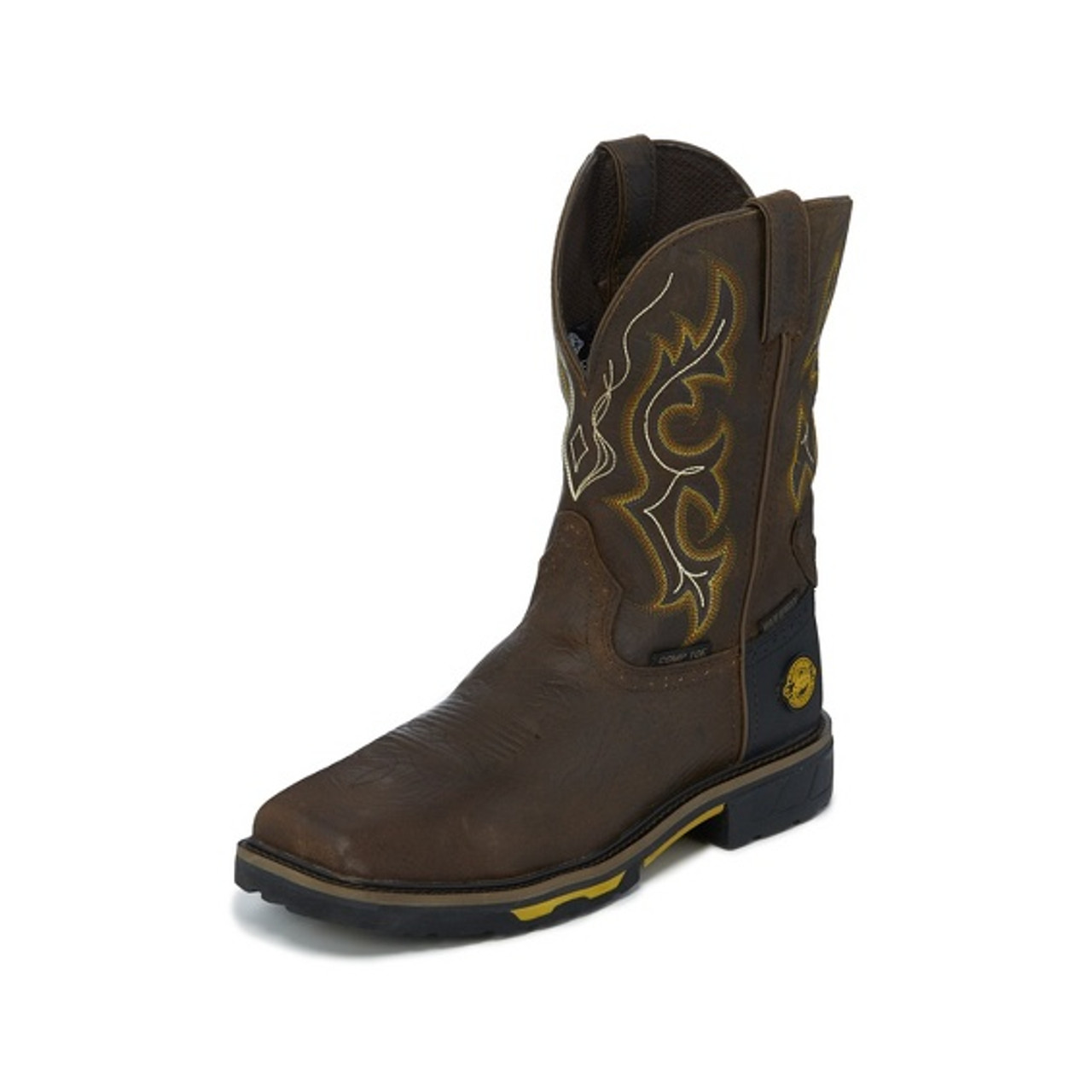 1b94760bbe7 Justin Men's Work Boots - Joist Rustic Waterproof Composite Toe