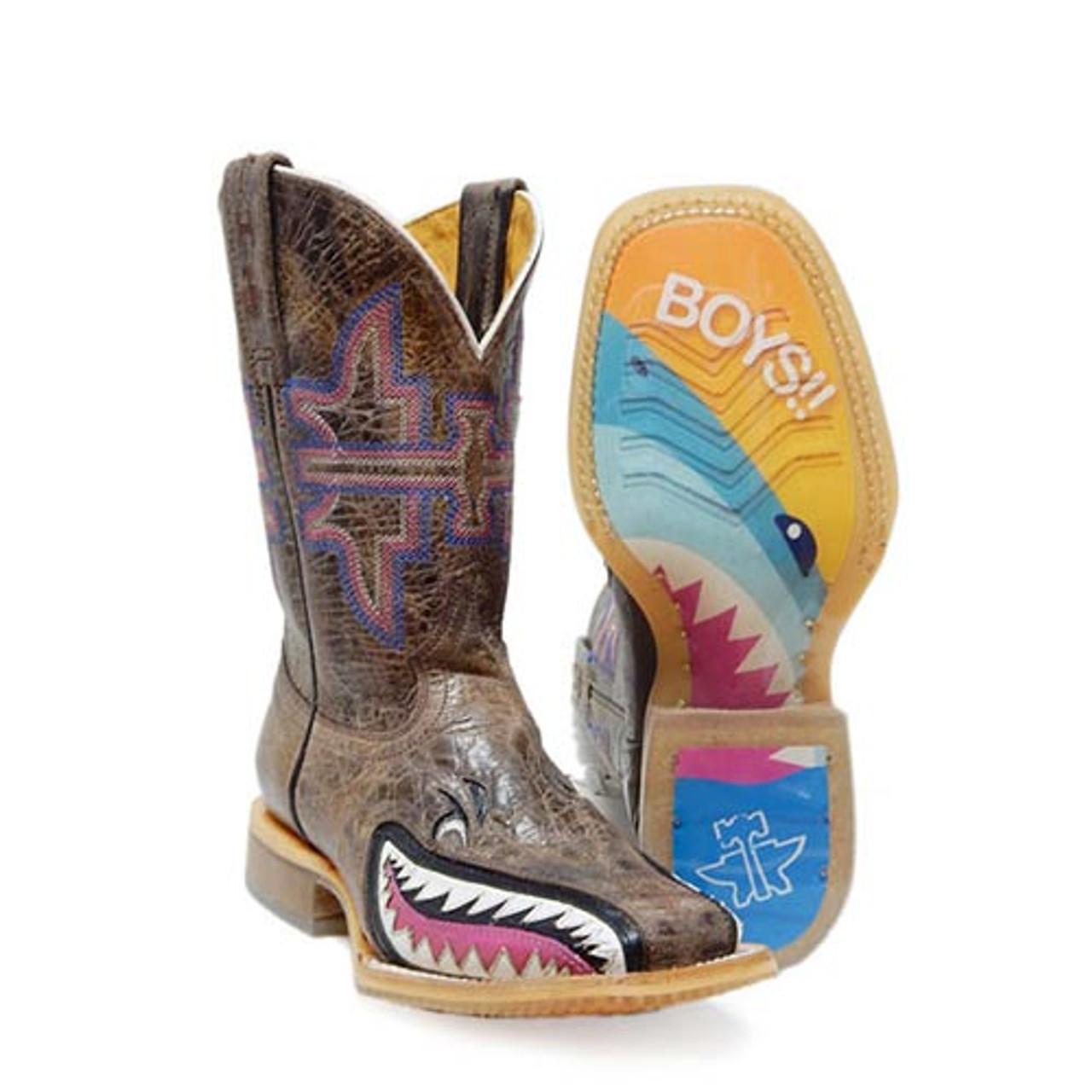 1b086a13302 Tin Haul Kids Boots - I Don't Bite w/ Jawsome Sole