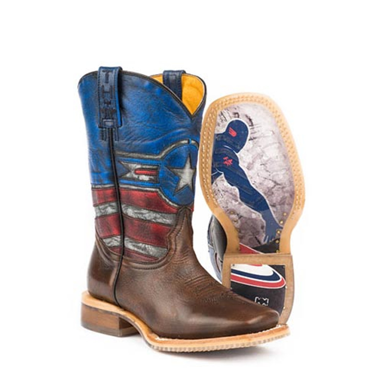d27c20d3315 Tin Haul Kids Boots - Little Justice w/ American Hero Sole