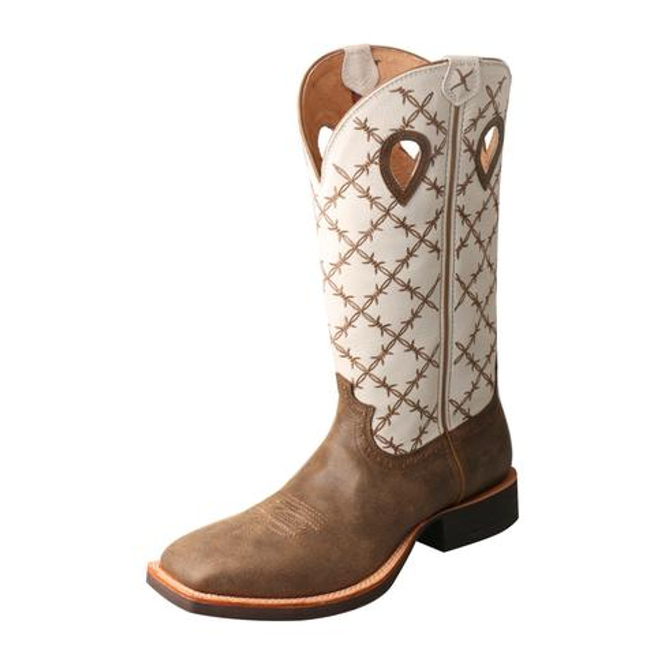 6b79ea85d08 Twisted X Men's Boots - Ruff Stock – - Bomber/White