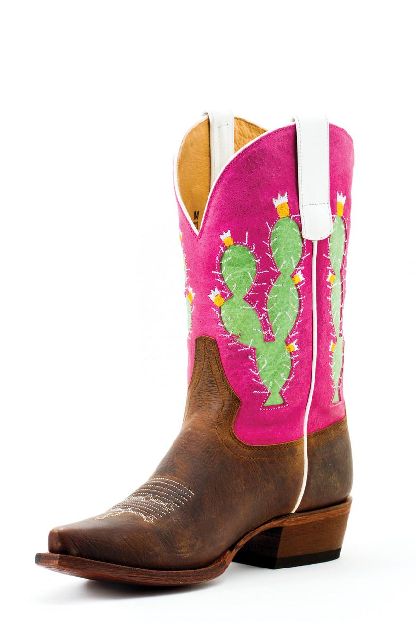 cbaffd574fa Macie Bean Kids Boots - Cactus Inlay - Toast Bison / Pink Sinsation
