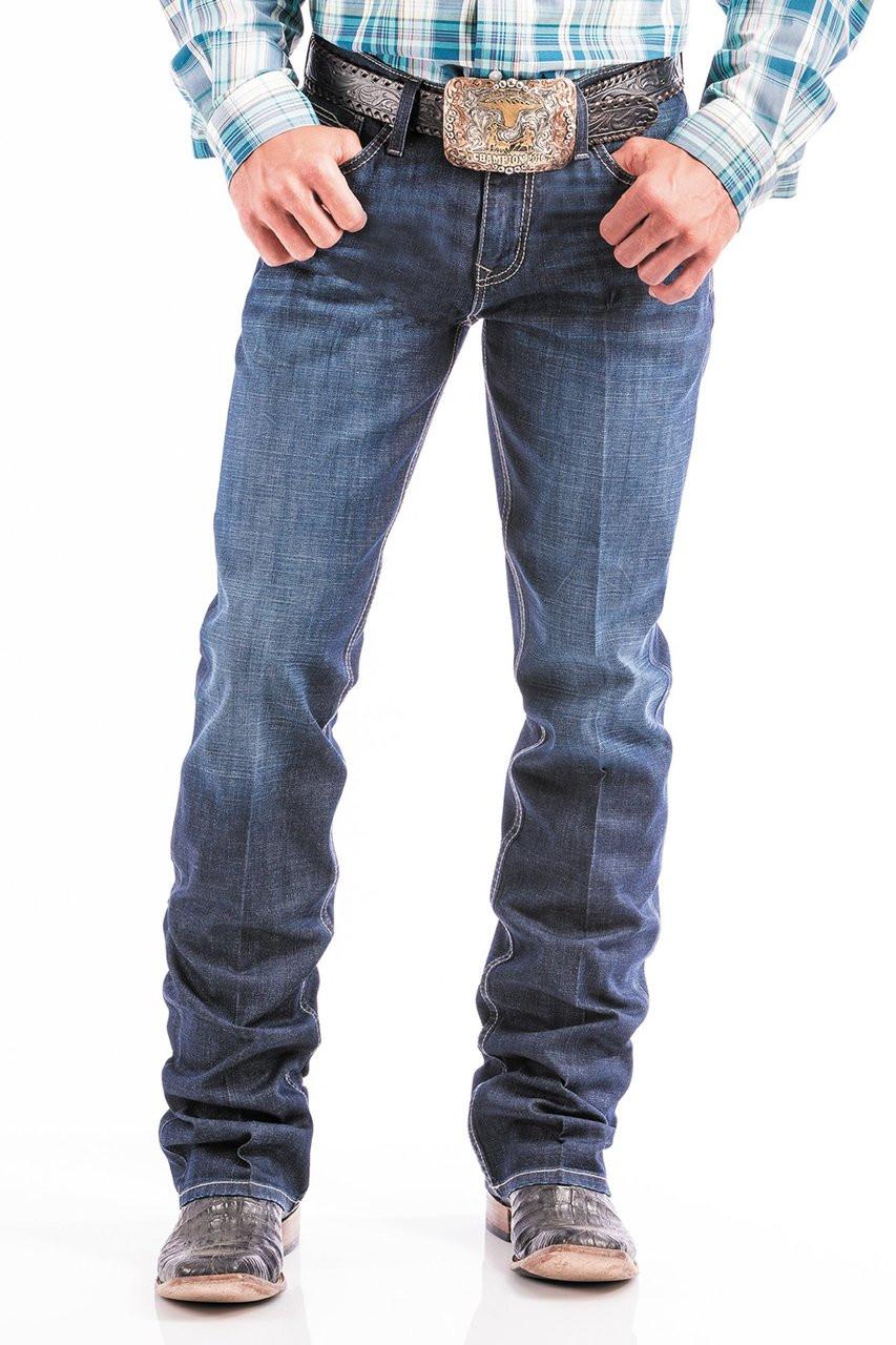 b14e406f Cinch Men's Jeans - Ian Slim Fit Mid Rise Boot Cut - Dark Stonewash ...