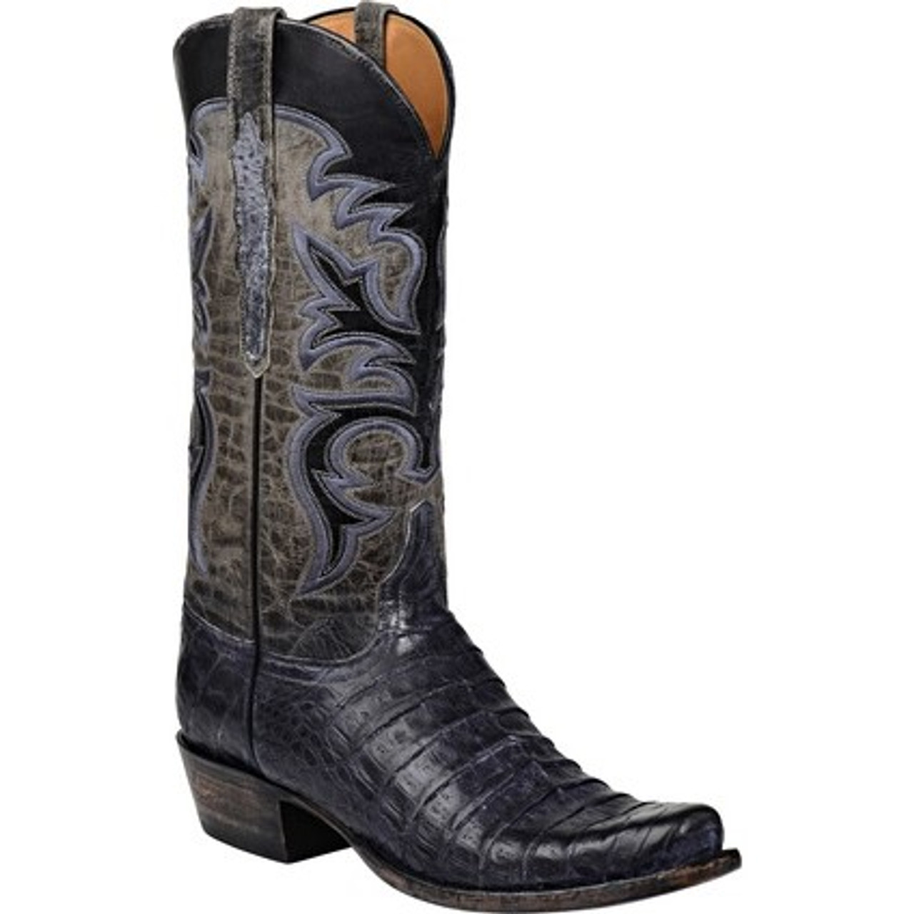4a634500bbe Lucchese Men's Boots - Classic Hand Made - Black - Belly Caiman Crocodile
