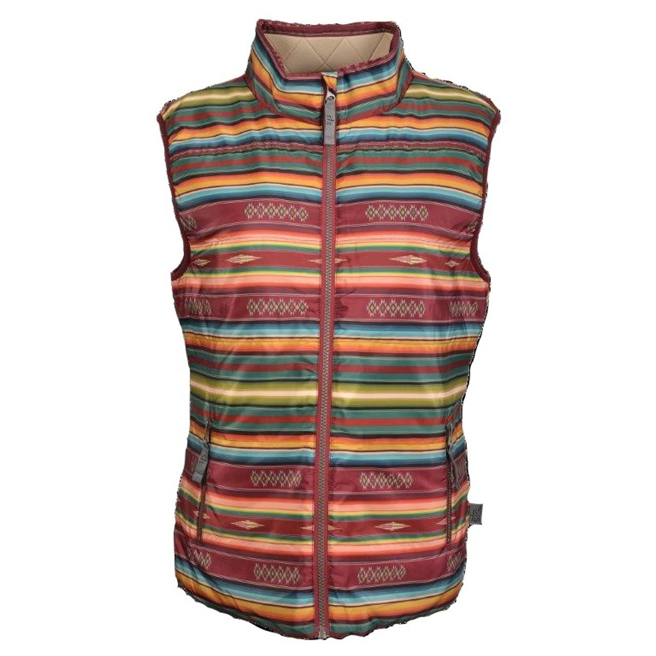 e3b2262259af sTs Ranchwear Women's Vest - The Sealy - Maroon Serape