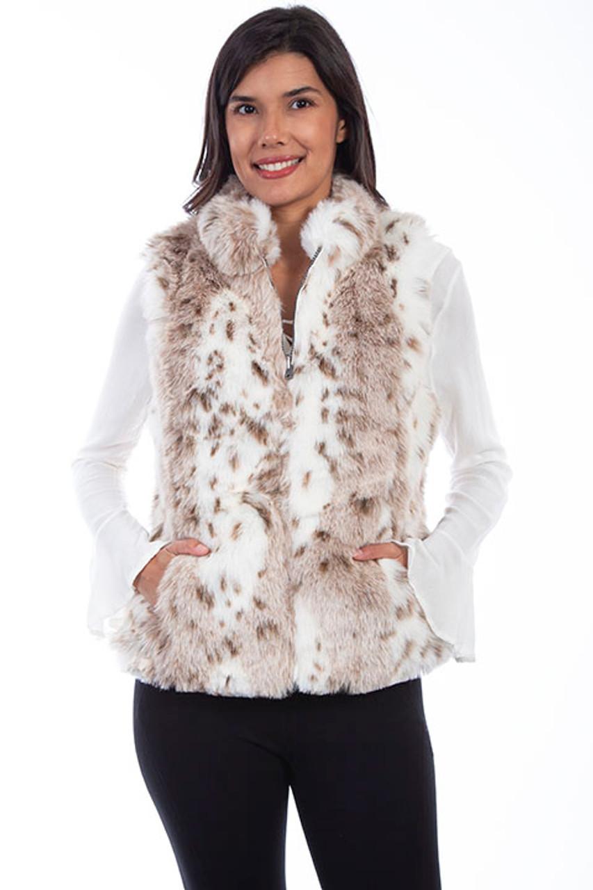 Scully Women's Apparel - Faux Fur Vest - Leopard - Billy's Western Wear