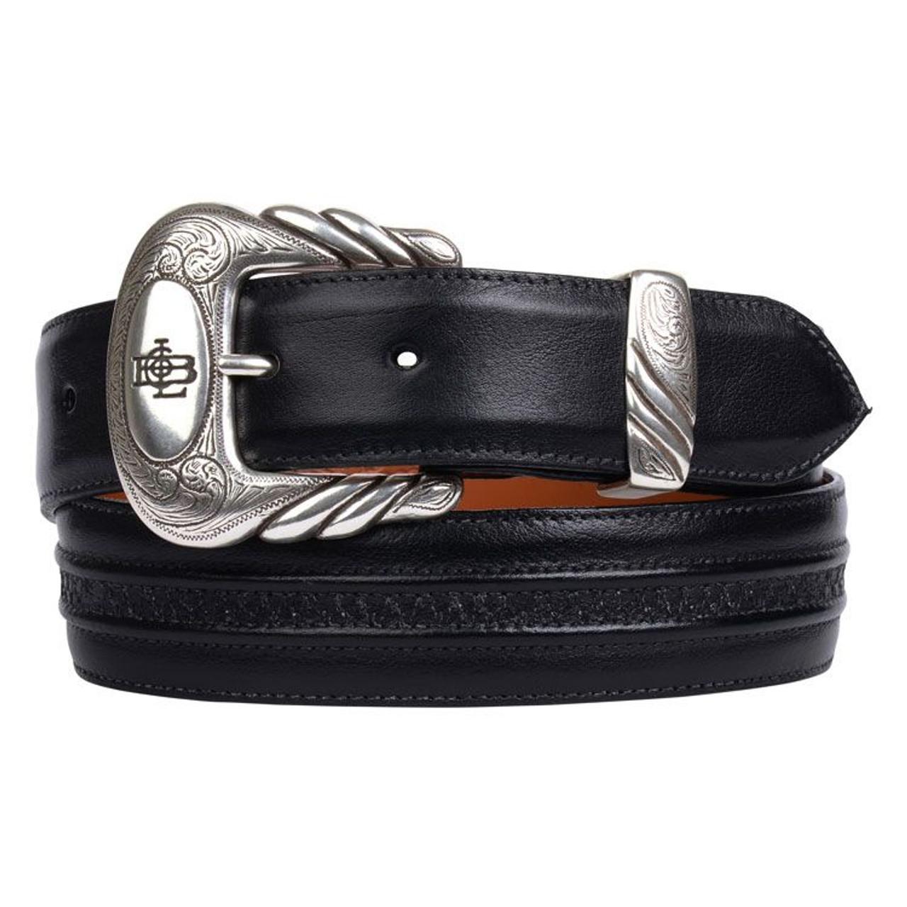Ariat Men/'s Classic Smooth Black Leather Belt