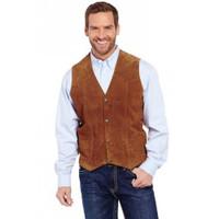 Men/'s Cripple Creek Boar Suede Snap Front  Vest 4 Colors Available