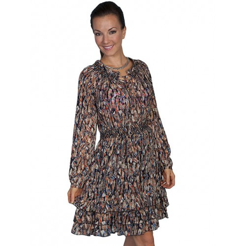 0b413005c Scully Women s Honey Creek Collection - Feather Print Dress ...