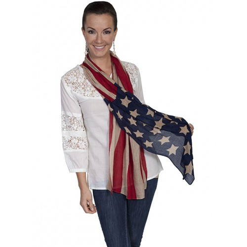 3172b5b3b Scully Women s Honey Creek Collection - Flag Scarf - Billy s Western ...