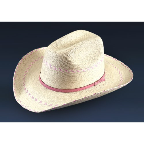 88ffa8aed854e Atwood Palm Leaf Kids Hats - Pink Pinto - Billy s Western Wear