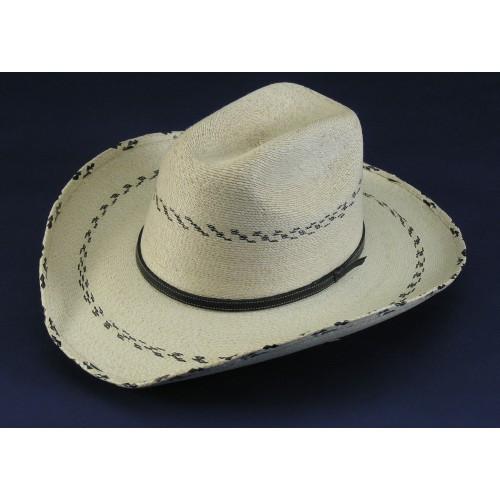 08196082163504 Atwood Palm Leaf Kids Hats - Black Pinto