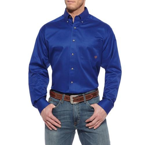 c1970e949ecd Ariat Men s Solid Twill Shirt - Ultramarine - Billy s Western Wear