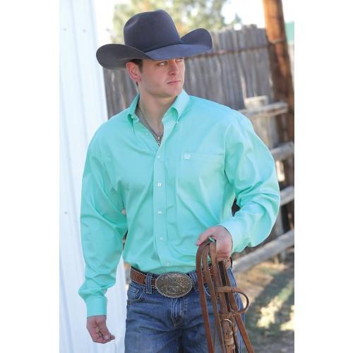 271920da78c9b Cinch Men s Shirts - Classic Edition - Mint Green Solid Button Down