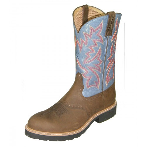779c4739aa8 Twisted X Men's Cowboy Work Pull On Boots - Distressed Saddle / Denim