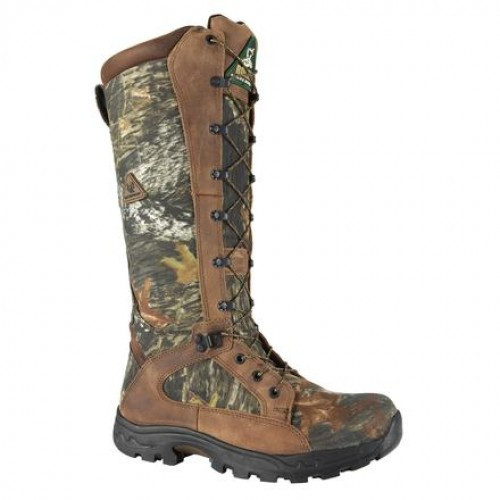 c9c1983ad5a Rocky Men's Boots - Prolight Snakeproof Mossy Oak Break-Up (MOBU) Camo Side  Zipper