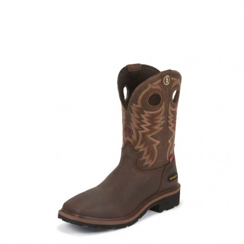 6f272ce9e7b Tony Lama Men's 3R - Midland Brown / Briar Grizzly / Bark Cheyenne  Waterproof w/ Composite Toe