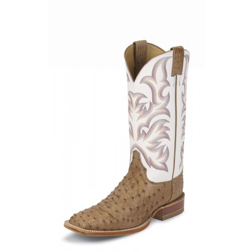 d4dabe09ee3 Justin Men's Western Exoctic - Paluxy Antique Brown Full Quill ...