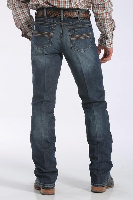 Men/'s Cinch White Label Mid Rise Medium Stone Wash WRX Jeans Style MP78834001