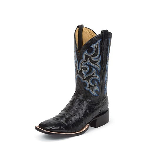 57e70eecc2e Justin Men s Western Exotic - Truman Black Full Quill - Billy s ...
