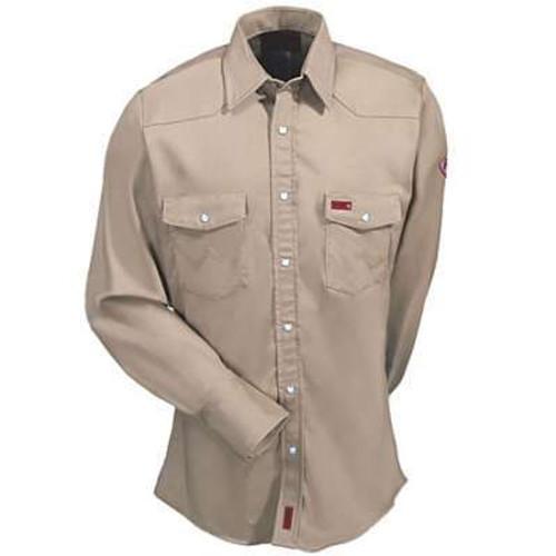 ec56f6ee3d8 Wrangler Men s Work Shirt - Flames Resistant - Denim - Billy s ...