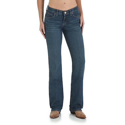 09MWTMS Wrangler Women/'s Premium Patch Mae Jean Embroidered Pocket Straight Leg