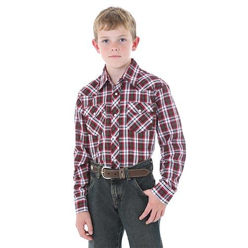 f0561b9e3 Wrangler Boy's Shirts - Plaid Shirt - Billy's Western Wear