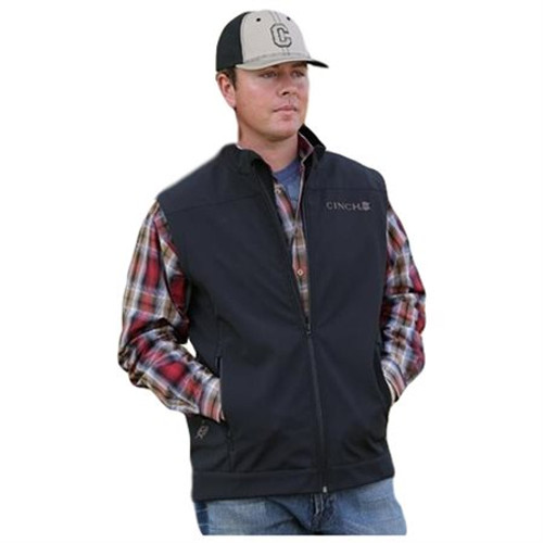0bf1ed0e27c1 Cinch Men s Jackets - Mens Black Bonded Vest - Black - Billy s ...
