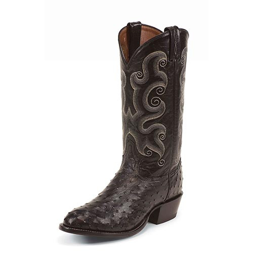 Tony Lama Mens Boots - Smooth Ostrich Exotic Western Boots - WIMBERLEY STARK