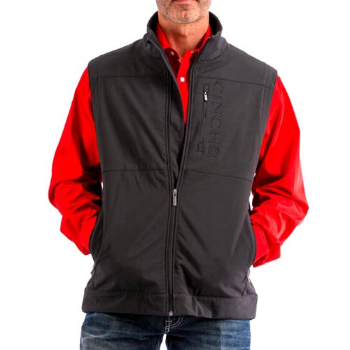a178b0d94af8 Cinch Men s Jackets - Black Bonded Vest - Black - Concealed Carry ...