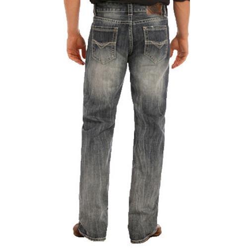 10e1d08ee02af Rock   Roll Denim Men s Jeans - Double Barrel Relaxed Fit Straight Leg -  Medium ...