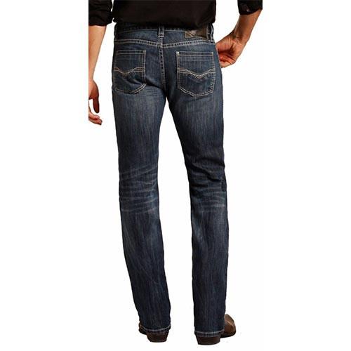 dcca2a3b6b2 Rock   Roll Denim Men s Jeans - Revolver Straight Leg - Dark Wash ...