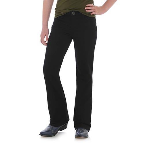 919904d3 Wrangler Girl's Premium Patch Jeans - Black - Billy's Western Wear