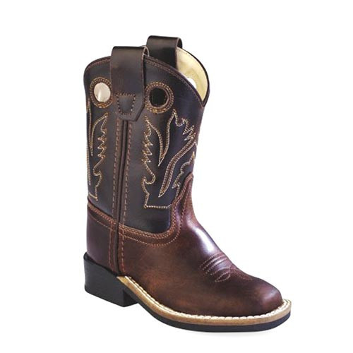 8862f78ccf Jama Old West - Toddler - Boys Brown Western Cowboy Boots - Square ...