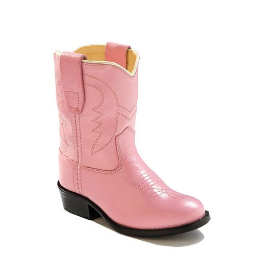 3ae65fabee9 Jama Old West - Toddler - Pink Leather - Round Toe