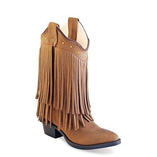 d601bb574db Jama Old West - Kids - Fringe Western Boots - Chocolate Nubuck