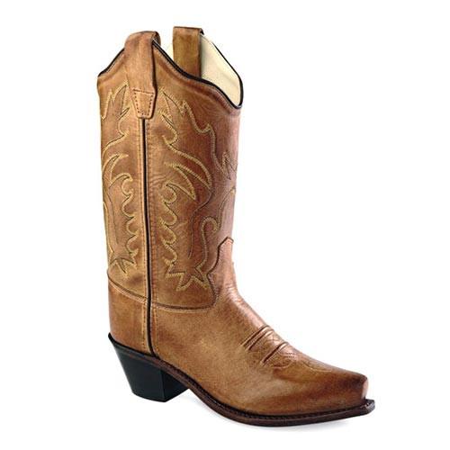 ffef99adba0 Jama Old West - Kids - Fashion Western Boots - Tan Canyon - Snip Toe