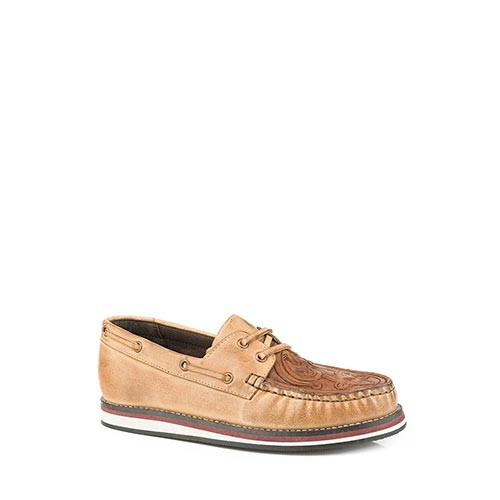 e64ff9b9d0d Roper Women s Casuals - Filly Embossed Lace Up Moccasin - Tan ...