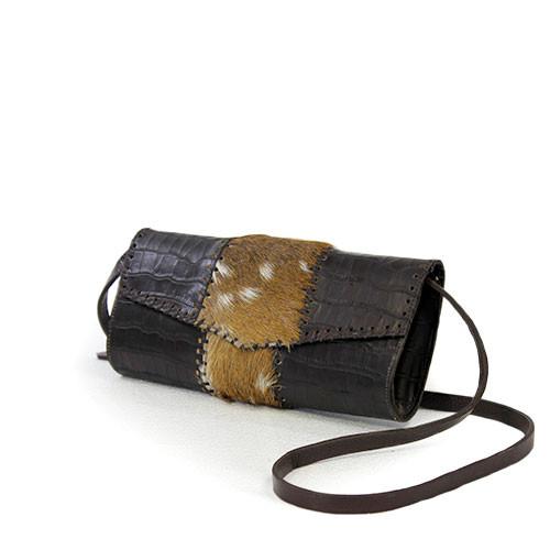 a4a88f7425d7 Juan Antonio Women s Custom Handbags - 026 - Clutch - Axis Hair on Antelope  Brown