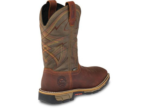 0fa5bbeee66 Irish Setter By Red Wing Boots - Marshall Waterproof Steel Toe Western Work  - Brown/Green
