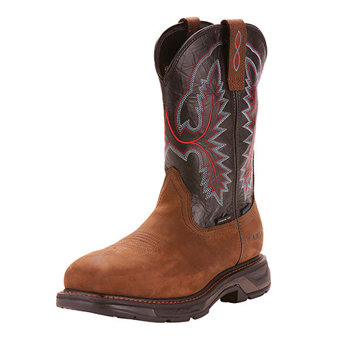 beae688a004 Ariat Men's Boots - Workhog XT SQ H20 Composite Toe - Distressed Brown /  Black
