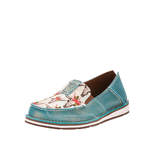 afe988035a852 Ariat Women s Casual - Cruiser - Turquoise   Rose Steer Print ...